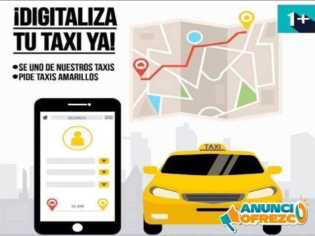 Plataforma para taxis con geolocalización cliente/taxi, solo 5.6$ mes